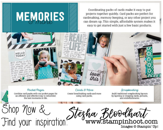 Memories & More Product Category by Stampin' Up! Shop with Stesha Bloodhart at Stampin' Hoot! #memories&more #cardmaking #scrapbooking #pocketpages #imadethis #demonstrator