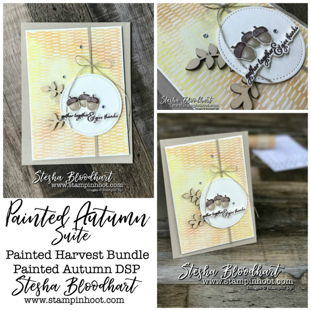Painted Harvest Bundle by Stampin' Up! for Remarkable InkBig Blog Hop at Stampin' Hoot! Stesha Bloodhart #stampinup #remarkableinkbigbloghop #paintedharvest #thankyoucards #cardmaking #papercrafts #handmade #diy #demonstrator #fall #autumn