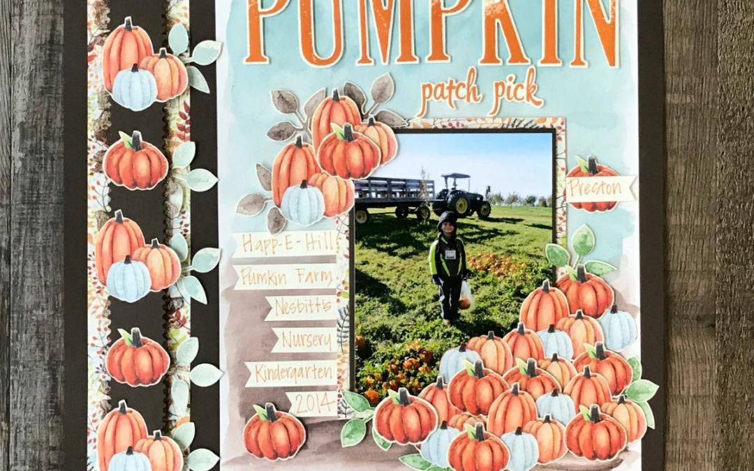 Scrapbook Sunday : Painted Autumn DSP Sneak Peek