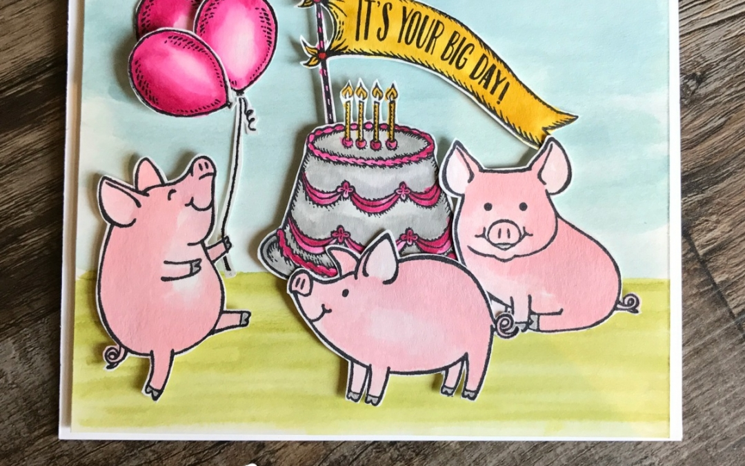This Little Piggy Has a Party Card
