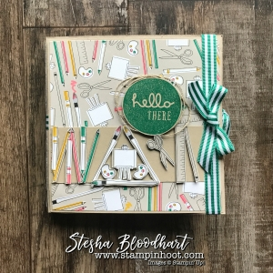 Pick A Pattern Suite of Products for A Teacher's Gift Card Folder on Stampin' Hoot! Stesha Bloodhart #pickapattern #stampinup #steshabloodhart #cardfolder #papercrafts #cardmaking #demonstrator