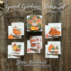 Gourd Goodness Stamp Set and Mini Pizza Boxes from Stampin' Up! 2017 Holiday Catalog for Stampin' Hoot's 3-D Thursday Feature! Daily Paper Crafting Details and Inspiration #gourdgoodness #autumn #fall #thankyoucards #gratitudecards #stampinup #minipizzabox #3dthursday #3dgifts #papercrafts #stamping #mapleleaves #pumpkins