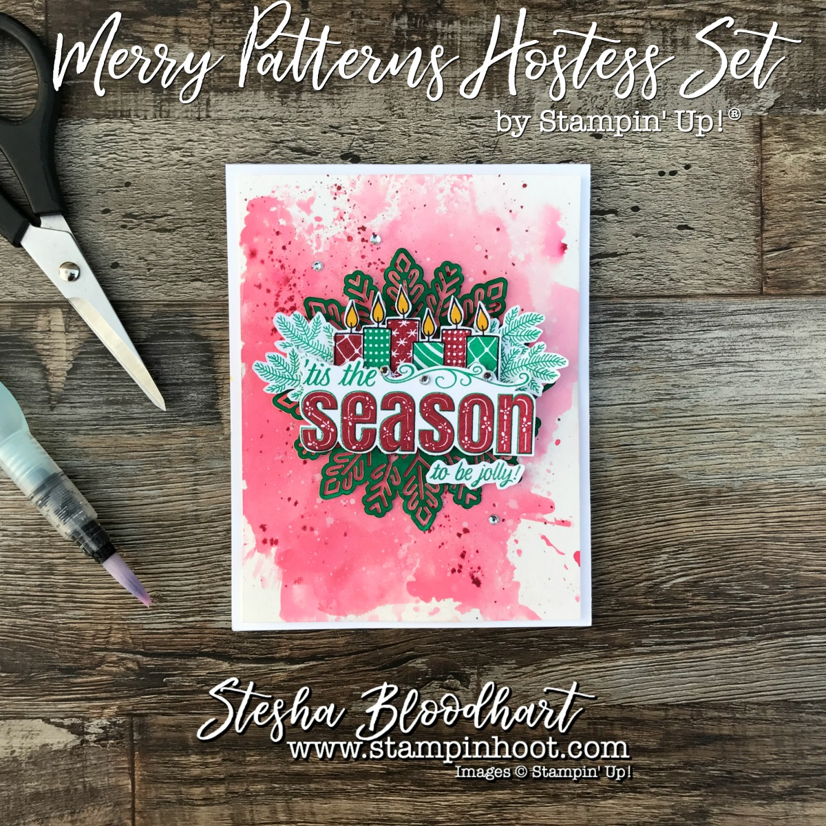 Merry Patterns Hostess Stamp Set by Stampin' Up! for the Pals 2017 September Blog Hop! #merrypatterns #stamping #cardmaking #papercrafts #christmascards #christmas #stampinup