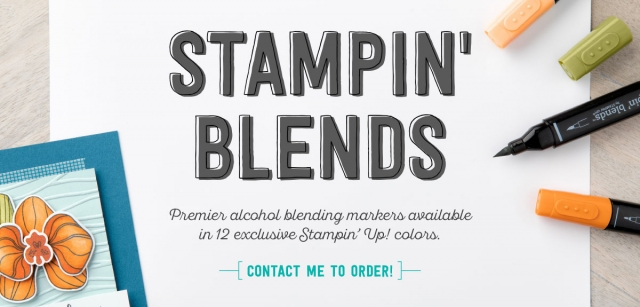 Stampin' Blends Non-Refillable Alcohol Markers by Stampin' Up! Available to Order November 1st, 2017