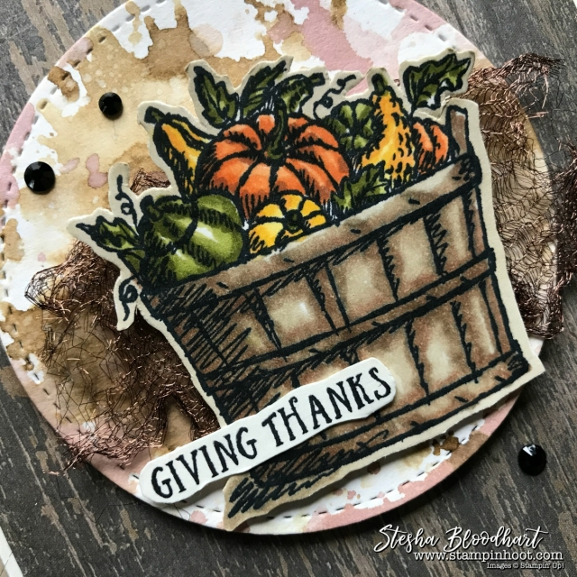Basket of Wishes Stamp Set by Stampin' Up! for the Remarkable InkBig Blog Hop Give Thanks Theme #basketofwishes #stampinhoot #steshabloodhart