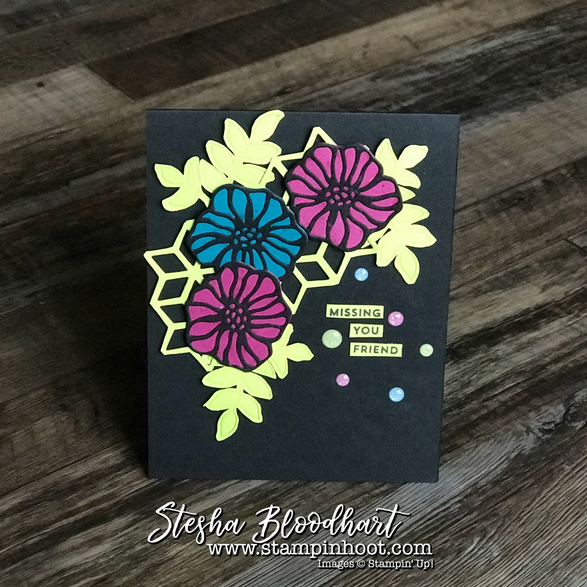 Oh So Eclectic Bundle by Stampin' Up! for Missing You Friend Card by Stesha Bloodhart with Stampin' Hoot! #steshabloodhart #stampinhoot