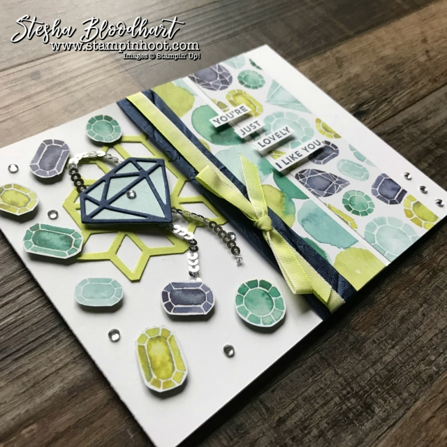 Oh So Eclectic Bundle Pairs Up with Naturally Eclectic Designer Series Paper for a You're Just Lovely Card by Stesha Bloodhart, Stampin' Hoot! #ohsoeclectic #stampinhoot #steshabloodhart