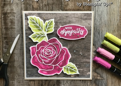 Rose Wonder Stamp Set by Stampin' Up! for Kylie's International Highlights Top Ten Winners Blog Hop - Sympathy Card #stampinup #rosewonder #bloghop #sympathycard #papercrafts #stamping #cardmaking
