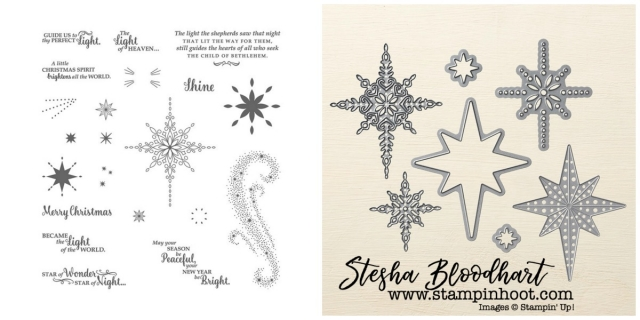 Star of Light Stamp Set and Starlight Thinlits Dies by Stampin' Up! Order Online at Stampin' Hoot!, Stesha Bloodhart
