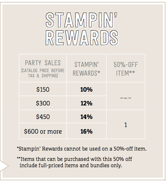 Stampin' Rewards Screen Shot