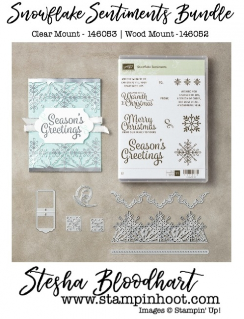 Snowflakes Sentiment Bundle by Stampin' Up! #snowflakessentiments #stampinup