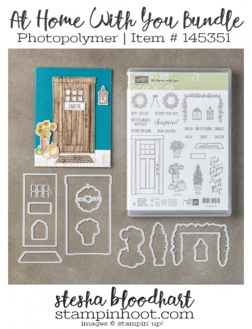 At Home With You Photopolymer Bundle Item # 145351 Shop Online at Stampin' Hoot! Stesha Bloodhart #bundleandsave #stampinup #framelits #dies #bigshot #stampsets #door