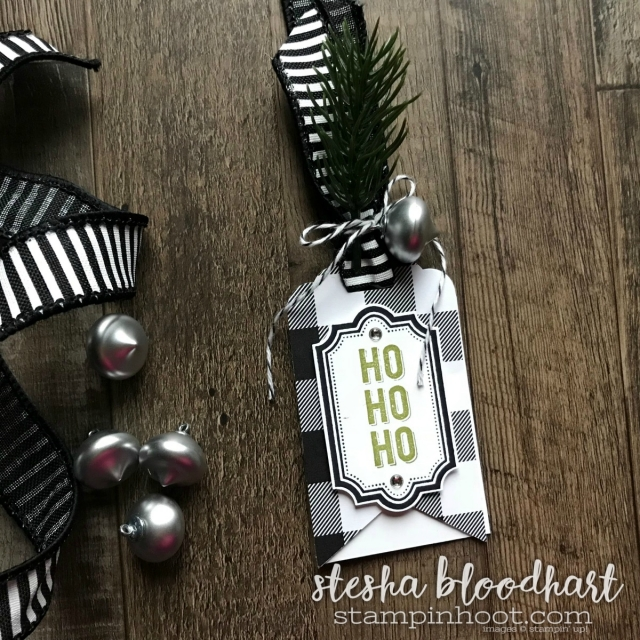 Merry Little Christmas Gift Tags for the Remarkable InkBig Blog Hop November 2017 created by Stesha Bloodhart, Stampin' Hoot! #steshabloodhart #stampinhoot #merrylittlechristmas #christmastags