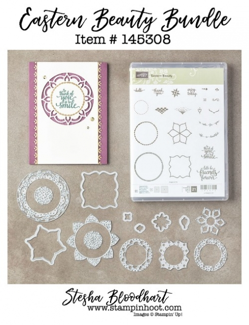 Eastern Beauty Bundle by Stampin' Up! 145308 Purchase Online at Stampin' Hoot! Stesha Bloodhart #easternbeauty #stampinup #steshabloodhart #stampinhoot