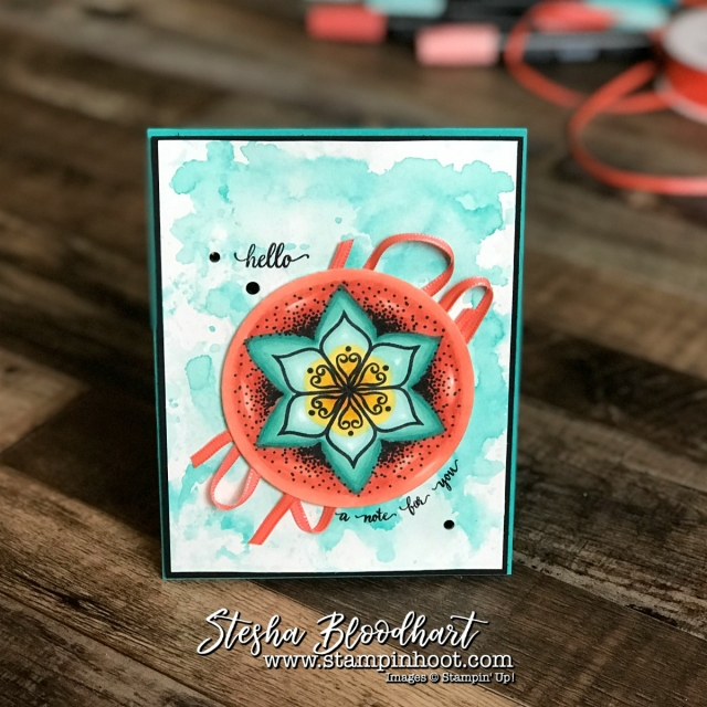 Eastern Beauty Stamp Set for the Stamp Review Crew Blog Hop. Colored with Stampin' Blends by Stampin' Up! #stampreviewcrew #stampinup #easternbeauty