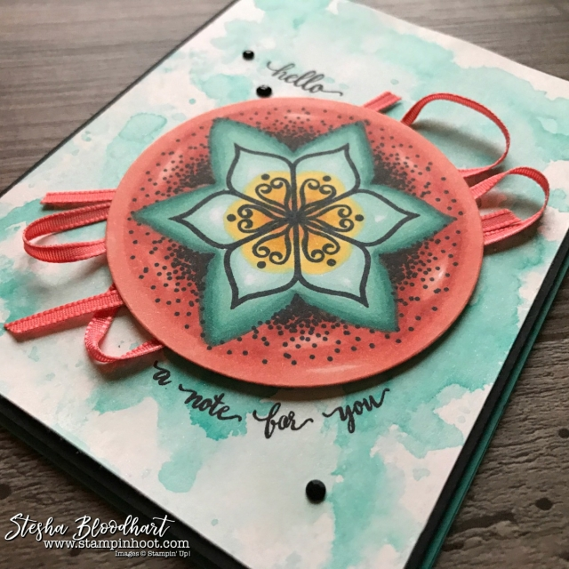 Eastern Beauty Stamp Set by Stampin' Up! Colored with Stampin' Blends for the Stamp Review Crew Blog Hop by Stesha Bloodhart, Stampin' Hoot! #steshabloodhart #stampinhoot #easternbeauty #stampreviewcrew #stampinblends