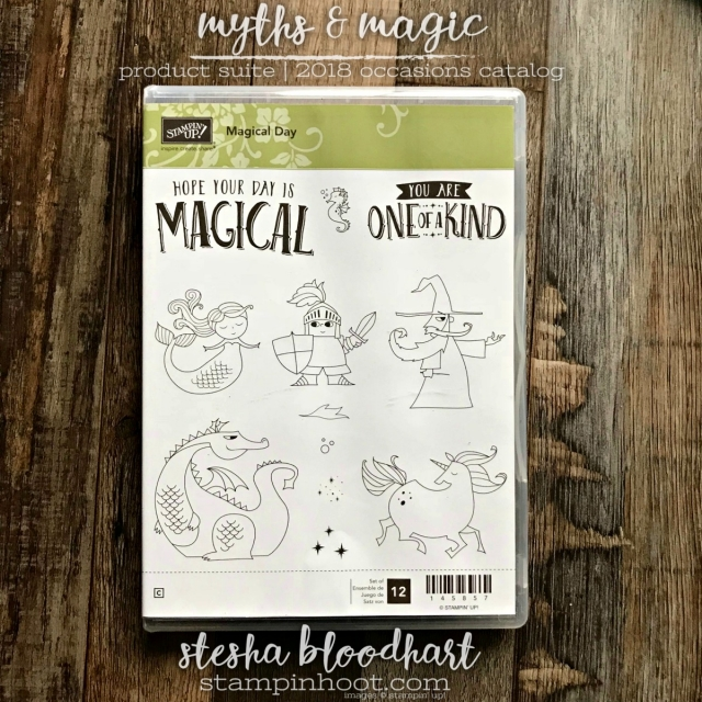 Magical Day Stamp Set from the Myths & Magic Suite of Product Available in the Stampin' Up! 2018 Occasions Catalog. #2018occasionscatalog #magicalday #mythsandmagic
