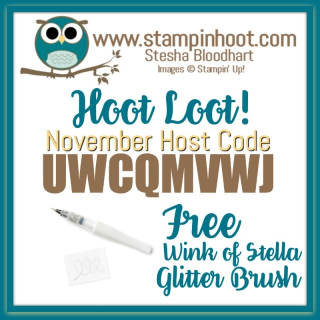 November 2017 Hoot Loot Free Wink of Stella Glitter Brush with $50 Purchase and Host Code Entry