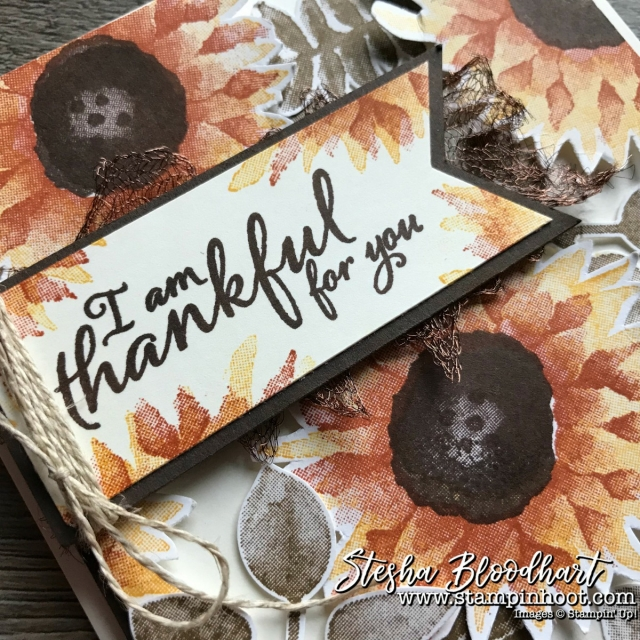 Painted Harvest Bundle by Stampin' Up! for a Thankful Card by Stesha Bloodhart for GDP112 #stampinhoot #steshabloodhart #GDP112