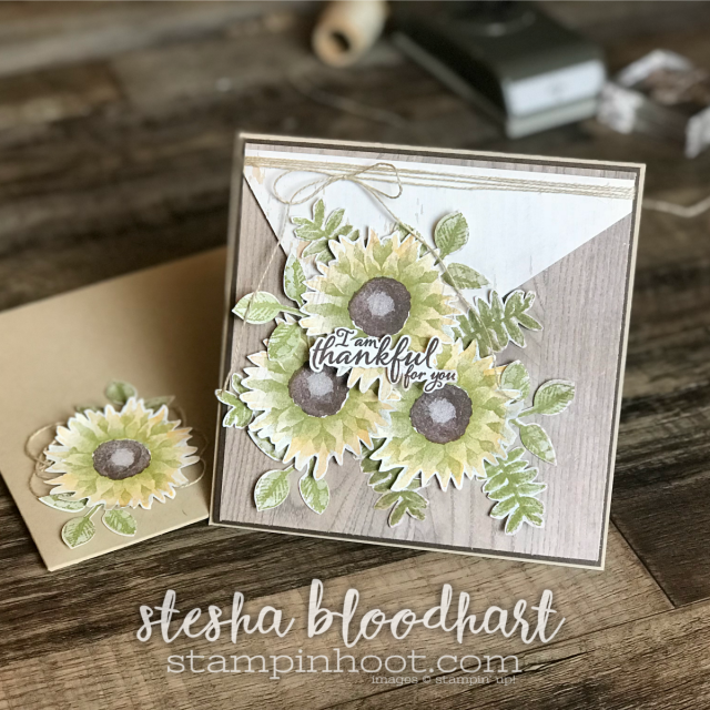 Painted Harvest Bundle by Stampin' Up! for the Stamp Review Crew Blog Hop. Card created by Stesha Bloodhart, Stampin' Hoot! #steshabloodhart #stampinhoot