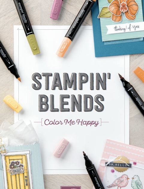 Stampin' Blends by Stampin' Up! Premium Alcohol Markers Available Now at Stampin' Hoot! Stesha Bloodhart #stampinblends #stampinhoot #steshabloodhart