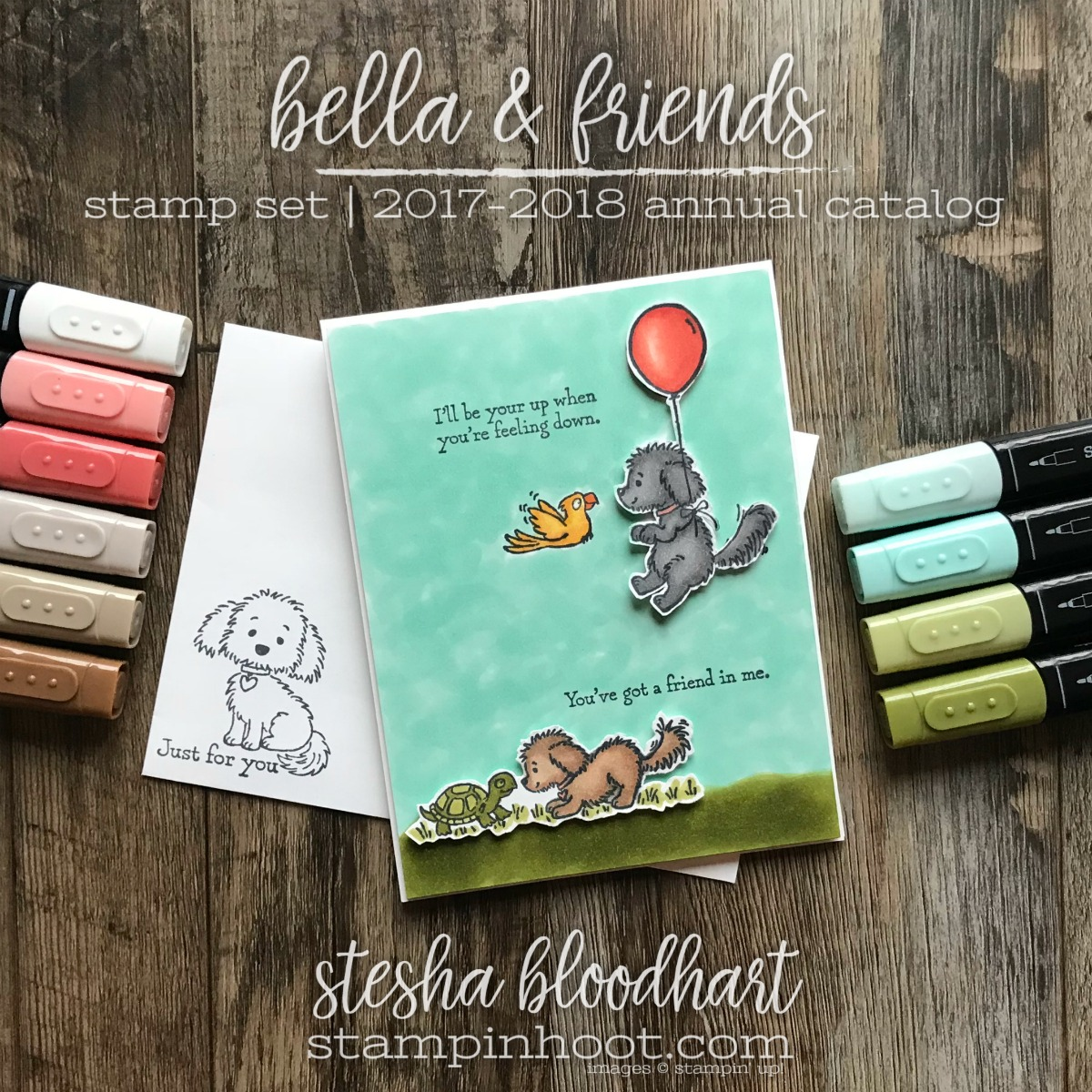 Bella & Friends Stamp Set by Stampin' Up! for the Stamp Review Crew Blog Hop, card created by Stesha Bloodhart, Stampin' Hoot! #steshabloodhart #stampinhoot