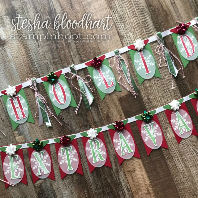 Let's Play Hockey Holiday Extravaganza Christmas Banner for Creating Kindness Blog Hop Special Guest Designer Stesha Bloodhart #creatingkindnessbloghop #steshabloodhart #stampinhoot