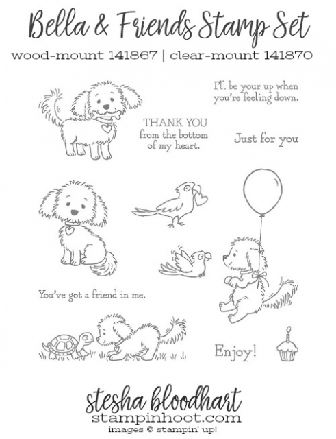 Bella & Friends Stamp Set by Stampin' Up! #bellaandfriends #stampinup #steshabloodhart