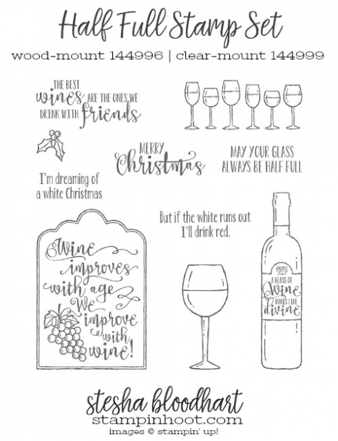 Half Full Stamp Set by Stampin' Up! Purchase Online at stampinhoot.com, Stesha Bloodhart #steshabloodhart #stampinhoot #halffull