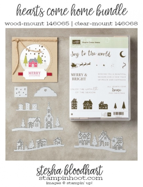 Hearts Come Home Bundle from Stampin' Up! 2017 Holiday Catalog. #stampinhoot #steshabloodhart