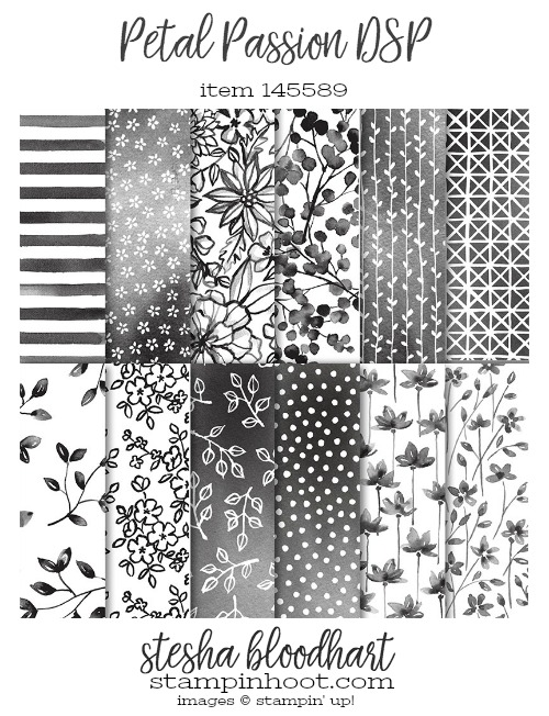 Petal Passion Designer Series Paper Item 145589 by Stampin' Up! #steshabloodhart #stampinhoot