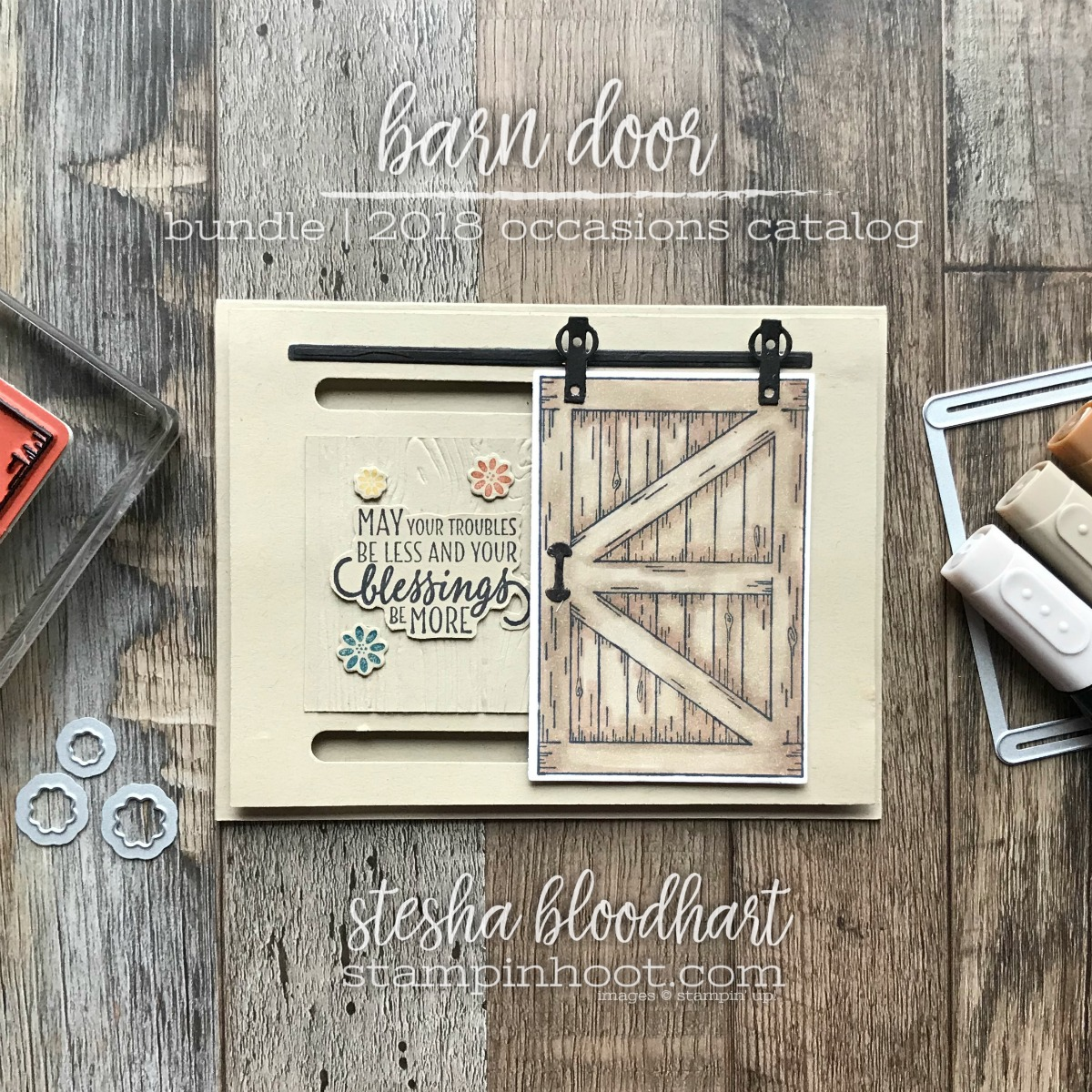 Barn Door Bundle by Stampin' Up! from the 2018 Occasions Catalog for #tgifc142 by Stesha Bloodhart, Stampin' Hoot! #steshabloodhart #stampinhoot