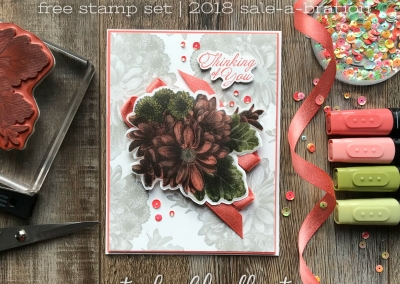 Heartfelt Blooms Stamp Review Crew SAB Hop Wording