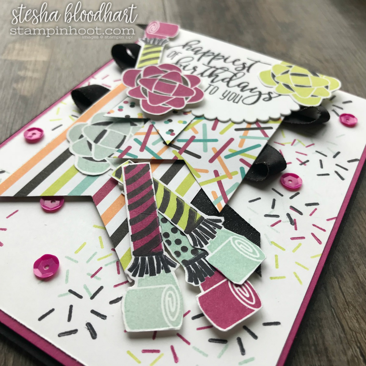 Picture Perfect Birthday Stamp Set from the 2018 Occasions Catalog for the Stamp Review Crew Blog Hop. Created by Stesha Bloodhart, Stampin' Hoot! #steshabloodhart #stampinhoot