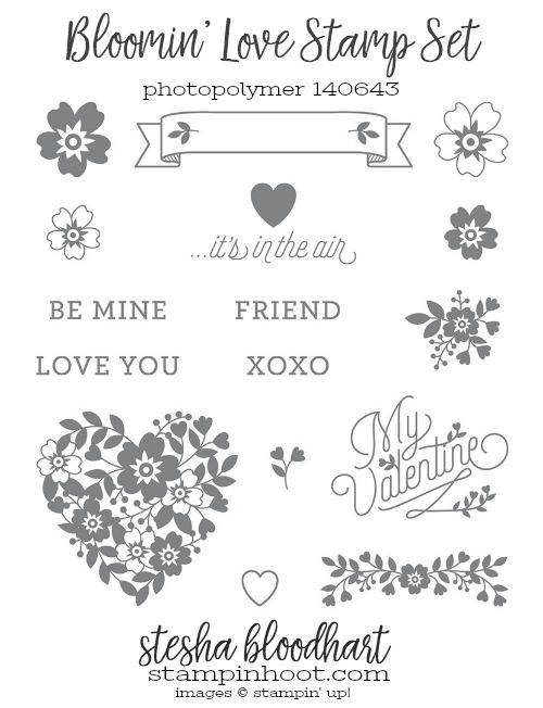 Bloomin' Love Stamp Set from Stampin' Up! Order online at Stampin' Hoot! Stesha Bloodhart #stampinhoot #steshabloodhart