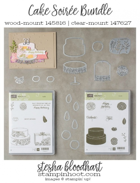 Cake Soiree Bundle by Stampin' Up! 2018 Occasions Catalog Shop Online at Stampin' Hoot! #steshabloodhart #stampinhoot
