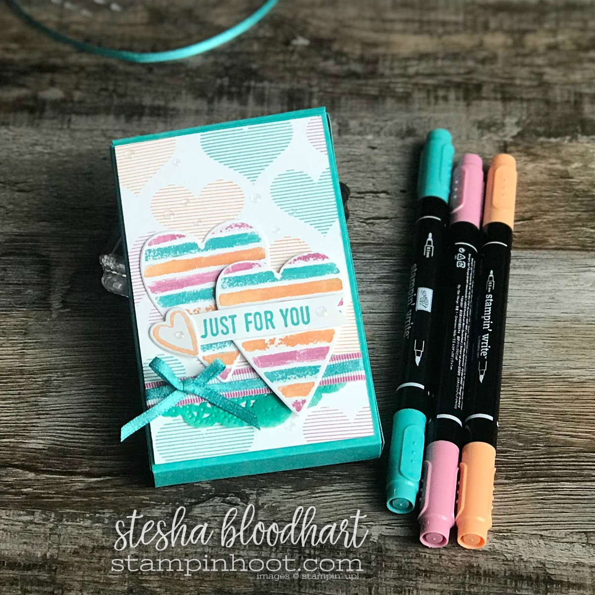 Sure Do Love You Bundle & Heart Happiness Stamp Set by Stampin' Up! for GDP121 Global Design Project 121 Color Challenge #steshabloodhart #stampinhoot #gdp121