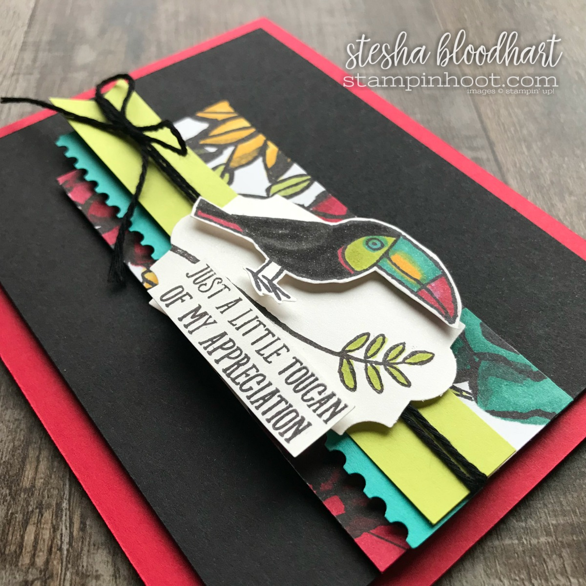 Bird Banter Stamp Set from the Stampin' Up! 2018 Occasions Catalog for GDP122 Sketch Challenge by Stesha Bloodhart, Stampin' Hoot! #steshabloodhart #stampinhoot #gdp122