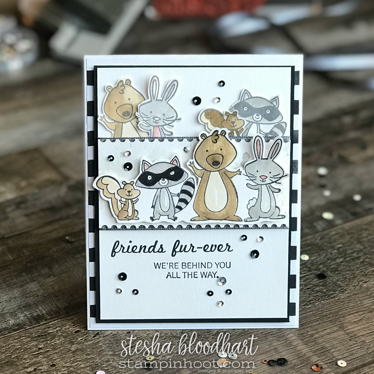 We Must Celebrate Stamp Set from Stampin' Up! 2018 Occasions Catalog for #tgifc143 Card Created by Stesha Bloodhart, Stampin' Hoot! #steshabloodhart #stampinhoot