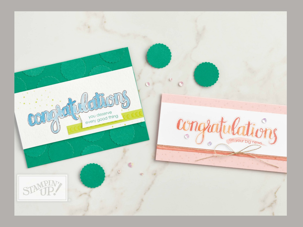 Amazing Congratulations from Stampin' Up! 2018 Occasions Catalog Card by Stesha Bloodhart, Stampin' Hoot! Pals Blog Hop, Case the Catty #steshabloodhart #stampinhoot