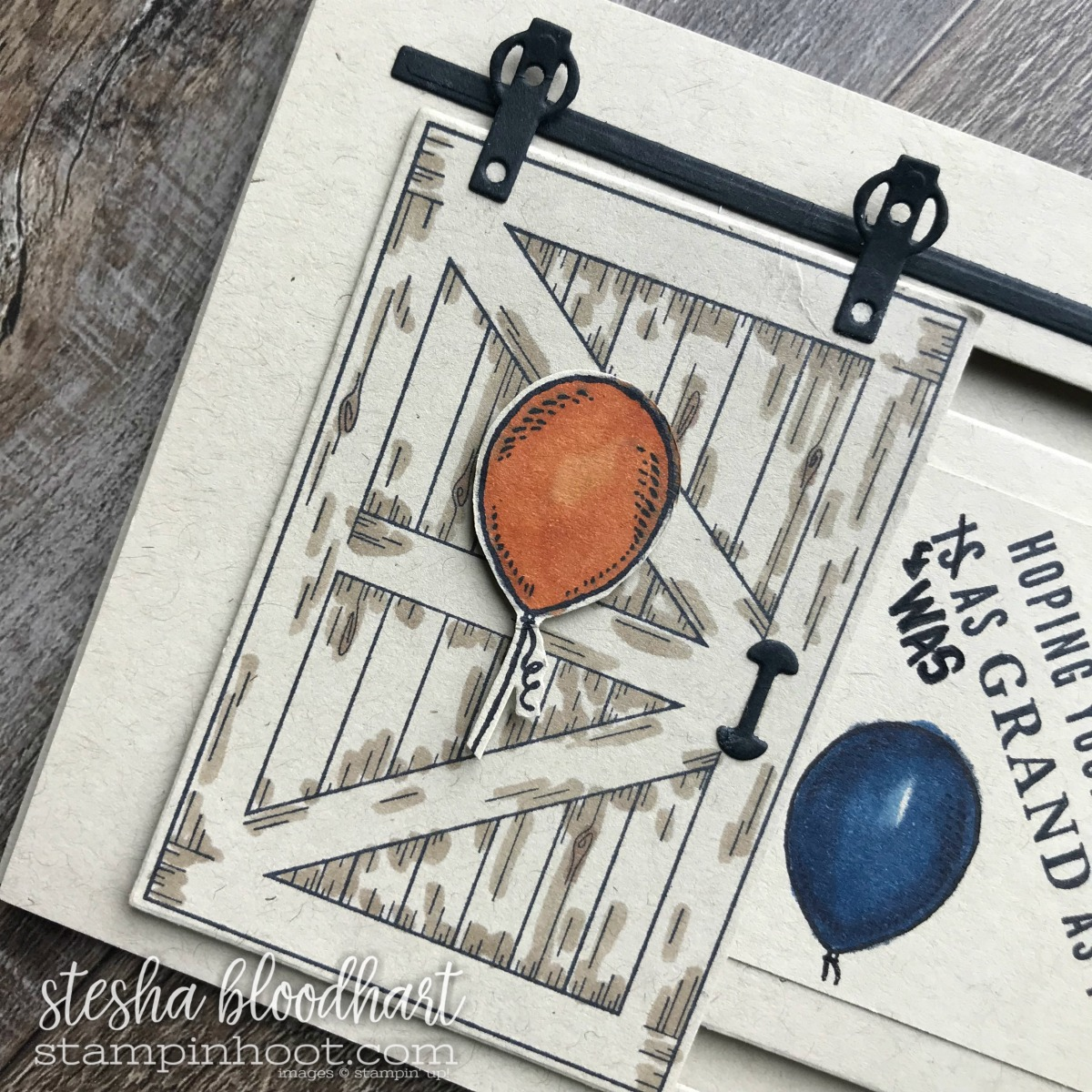 Barn Door Bundle by Stampin' Up! From the 2018 Occasions Catalog. Happy Birthday Card by Stesha Bloodhart, Stampin' Hoot! #steshabloodhart #stampinhoot
