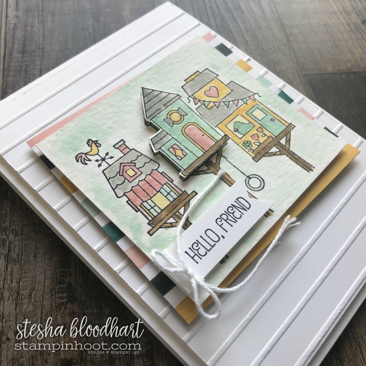 lying Home Stamp Set by Stampin' Up! from the 2018 Occasions Catalog. Created by Stesha Bloodhart, Stampin' Hoot! Pals Blog Hop - Case the Catty #steshabloodhart #stampinhoot