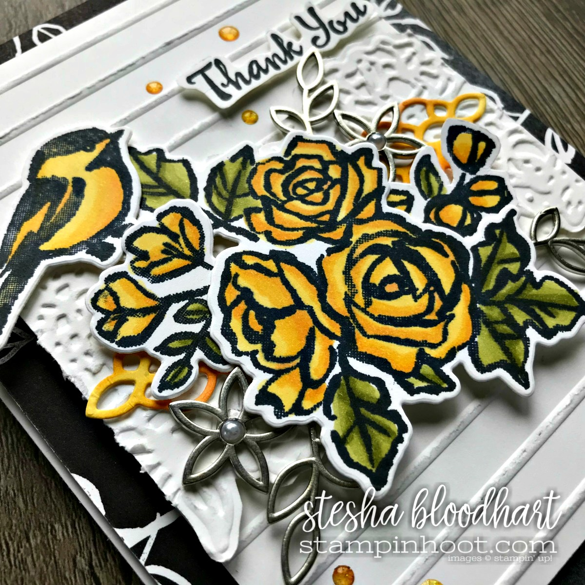 Petal Palette Bundle from the Stampin' Up! 2018 Occasions Catalog for the Stamp Review Crew Blog Hop Feature. Card created by Stesha Bloodhart, Stampin' Hoot! #steshabloodhart #stampinhoot