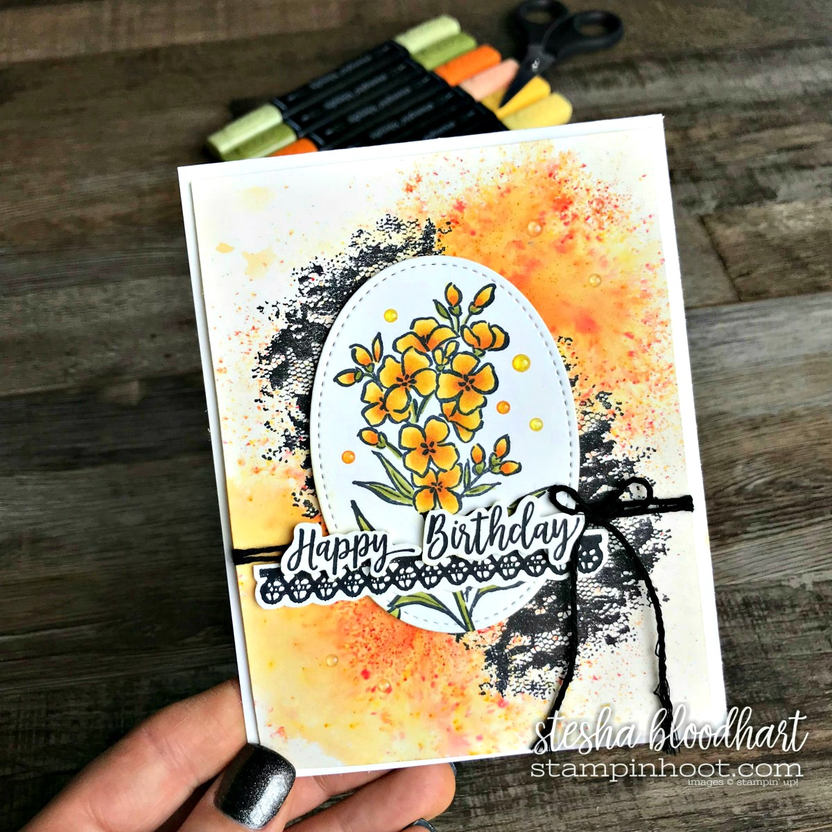 Southern Serenade Stamp Set by Stampin' Up! From the 2018 Occasions Catalog for GDP126 Sketch Challenge. Card designed and created by Stesha Bloodhart, Stampin' Hoot! #steshabloodhart #stampinhoot