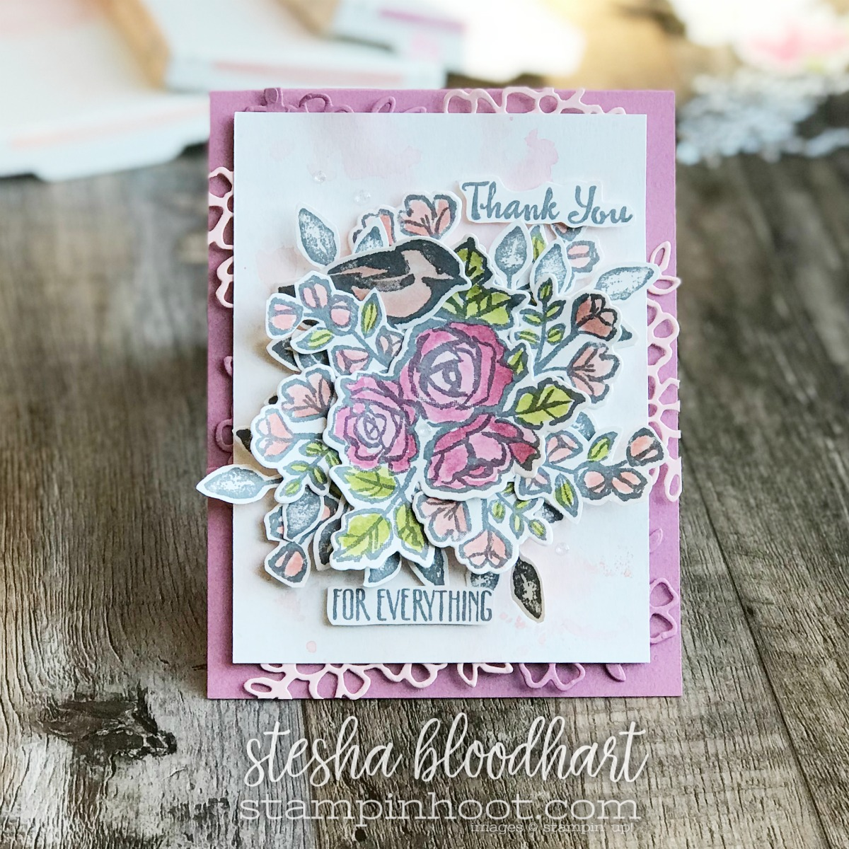 Petal Palette Bundle by Stampin' Up! from the 2018 Occasions Catalog for #tgifc145 Color Challenge Card Created by Stesha Bloodhart, Stampin' Hoot! #steshabloodhart #stampinhoot