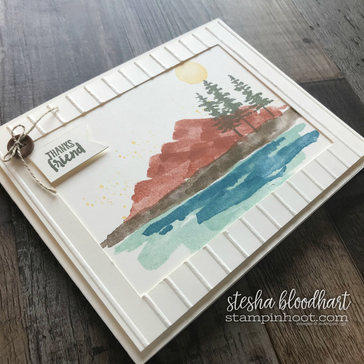 Waterfront Stamp Set by Stampin' Up! from the 2018 Occasions Catalog. Card created by Stesha Bloodhart, Stampin' Hoot! #steshabloodhart #stampinhoot
