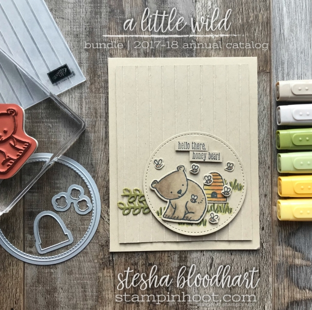 A Little Wild Bundle by Stampin' Up! 2017/2018 Annual Catalog Card Created by Stesha Bloodhart, Stampin' Hoot! #stampinhoot #steshabloodhart #bloghop
