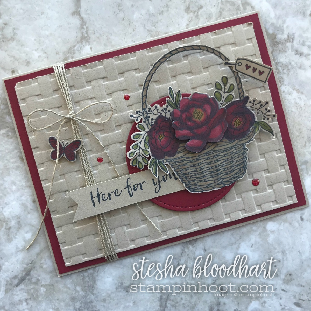 Blossoming Basket Bundle - Free Sale-a-Bration Item with $100 Purchase. Ends March 31st, 2018. Earn online by Shopping With Stampin' Hoot, Stesha Bloodhart #steshabloodhart #stampinhoot