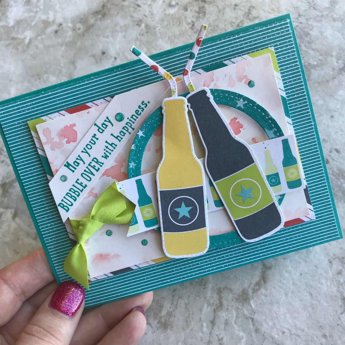 Bubble Over Bundle by Stampin' Up! Available to purchase from Stesha Bloodhart, Stampin' Hoot! Card created for the Stamp Review Crew Blog Hop #steshabloodhart #stampinhoot