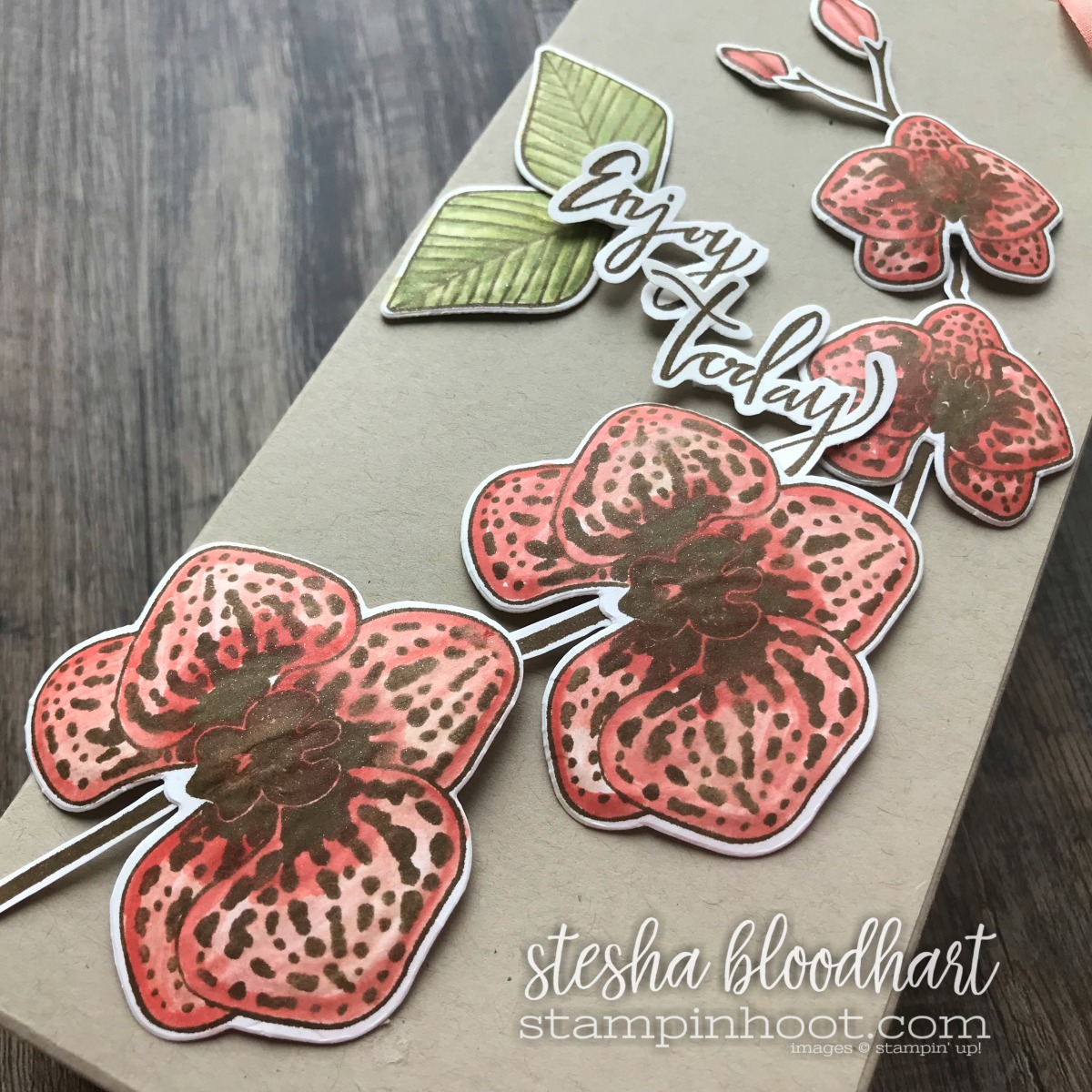 Climbing Orchid Bundle by Stampin' Up! Gift Bag and Card Set Created by Stesha Bloodhart, Stampin' Hoot! For the GDP129 Color Challenge #steshabloodhart #stampinhoot #GDP129